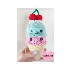 Big ICE CREAM cone - PDF Pattern, amigurumi, crochet by SuperCuteDesignShop
