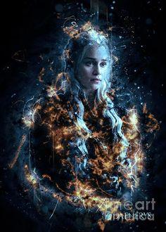 Game Of Thrones Wallpaper, Game Of Thrones Artwork, Game Of Thrones Poster, Daenerys Targaryen Art, Khaleesi, Game Of Trone, Queen Of Dragons, Sketch Inspiration, Poster Prints