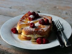 Raspberry Ricotta Stuffed French Toast