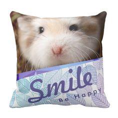 Shop Hammyville - Cute Hamster Geo Design Throw Pillow created by HammyVille. Robo Hamster, Throw Pillow Covers, Throw Pillows, Monterey Park, Cute Hamsters, Happy Smile, Cute Pink, Custom Pillows, Geo