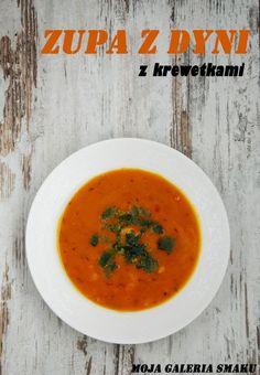 Zupa z dyni z krewetkami