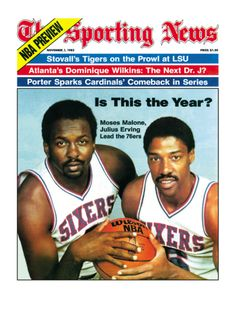 Philadelphia Moses Malone and Julius Erving - November 1982 People Photo - 61 x 81 cm Basketball History, Basketball Rules, Basketball Posters, Basketball News, Basketball Leagues, Basketball Pictures, Basketball Legends, Basketball Hoop, Nba Stars