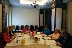 Ministrul Transporturilor, Lucian Șova, a participat astăzi, la Bacău, alături de Premierul României, Viorica Dăncilă, și Ministrul Fondurilor Europene, Rovana Plumb, la întâlnirea cu Comisarul European pentru Politică Regională, Corina Crețu Conference Room, Table, Home Decor, Decoration Home, Room Decor, Tables, Home Interior Design, Desk, Tabletop