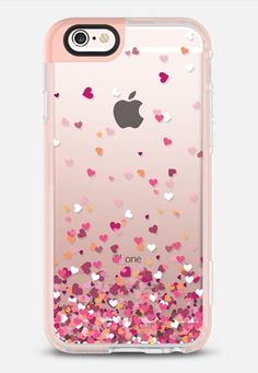 Casetify iPhone 7 Case and Other iPhone Covers - Confetti Hearts iPhone 6s Case by Ruby Ridge Studios | #Casetify