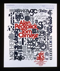Herb Lubalin, Alan Peckolick and Tom Carnase tour poster, 1975 via Herb Lubalin Study Center Typography Letters, Typography Design, Hand Lettering, Retro Typography, Creative Typography, Herb Lubalin, Type Design, Design Art, New York School