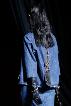 Miu Miu Spring 2013 Ready-to-Wear Accessories Photos - Vogue Denim Fashion, Fashion Models, Fashion Brands, Fashion Show, Fashion Spring, Paris Fashion, Mode Jeans, All Jeans, Fashion Details