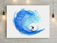 Illustration de golf eau couleur-Surf-photo d'art par Zendrawing
