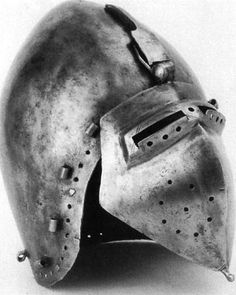 myArmoury.com discussed Klappvisor - Allegedly from Valeria Castle in Sitten/Sion in Switzerland. Nice bascinet, visor not quite as wide or low as I'm looking for.