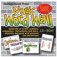 Music Word Wall CD-ROM - Music