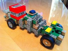 Mindcraft creeper Minecraft Car, Wolf Scouts, Cub Scouts, Girl Scouts, Boys Life Magazine, Pinewood Derby Cars, Fun Activities For Kids, Scout Activities, Derby Time