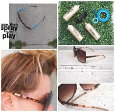Use your imagination and your craft skills and make your cheap sunglasses look like they're worth a million bucks. Take a look at 15 DIY Embellished Sunglasses Tutorials. Sunglasses 2014, Flower Sunglasses, Retro Sunglasses, Diy Craft Projects, Diy Crafts, Diy Spray Paint, Diy Mode, Diva Design, Diy Frame