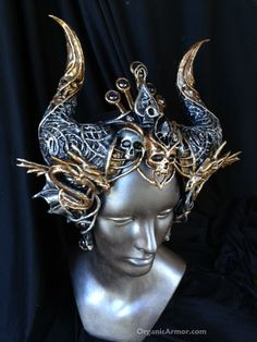 dragon, crown, horns, headdress