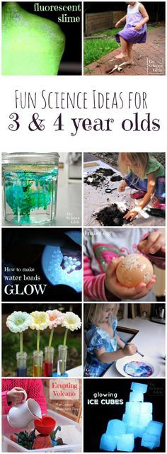 Loads of fun science activities and ideas for 3 and 4 year olds from Go Science Girls.