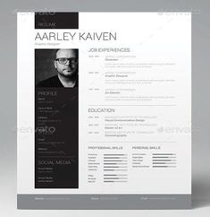 Professional Resume Template, Cover Letter for MS Word, Best CV Design, Instant .