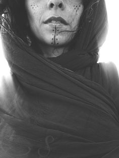 Read me  #berber #tattoo #blackandwhite #mouth #veil