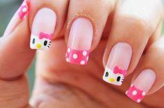 The new trend of nail designs 2020 for women Pastel Nails, Pink Nails, Glitter Nails, Cute Nail Art, Beautiful Nail Art, Beautiful Things, Nail Designs Spring, Nail Art Designs, Hello Kitty Nail Polish