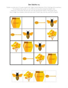 As Busy as a Bee: 13 Ideas for Creativity + Bonus for Needlewomen, фото № 18 Sudoku Puzzles, Puzzles For Kids, Fun Activities For Kids, Bee Crafts For Kids, Stained Glass Paint, Unusual Jewelry, How To Make Pillows, Printing Labels, Childrens Party