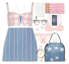 """""""Denim Pink"""" by janicevc on Polyvore featuring River Island, T By Alexander Wang, STELLA McCARTNEY, Alexis Bittar, L'Agent By Agent Provocateur, FOSSIL, Accessorize, Kate Spade, Casetify and Byredo"""