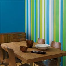 vertical stripes painted to liven up a roomHow to Paint a Striped Wall