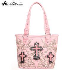 Montana West Western Spiritual Collection 3 Crosses Tote Handbag – Handbag Addict.com