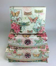 Punch-Studio-Dragonfly-Keepsake-Nested-Storage-Boxes-Set-of-3-Flip-Top-w-Brooch