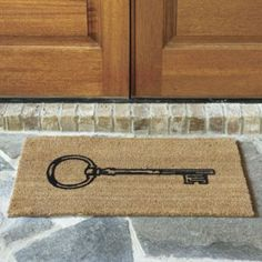 Key Coir Mat from Ballard Designs. Great for our breeze way or front door.