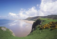 In a recent survey of travel writers Rhossili  was voted the second best #beach in the #UK - Hooray! #Wales #Gower