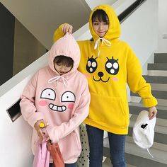 Kawaii Cartoon Fleece Hoodie Sweater sold by ohlala-harajuku. Shop more products from ohlala-harajuku on Storenvy, the home of independent small businesses all over the world. Pullover Hoodie, Fleece Hoodie, Sweater Hoodie, Hooded Sweatshirts, Korean Couple, Korean Girl, Asian Girl, Ulzzang Couple, Ulzzang Girl