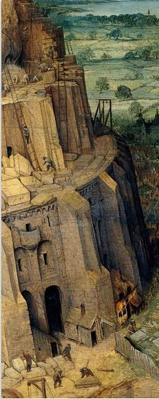 1563 Pieter Bruegel the Elder – The Tower of Babel, Detail