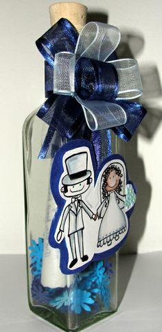 Invitación matrimonio en Botella http://www.facebook.com/crpentinas