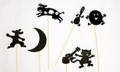 Make Hey Diddle Diddle shadow puppets - Kidspot Free Nursery Rhymes, Nursery Rhyme Crafts, Nursery Rhymes Preschool, Rhyming Activities, Activities For Kids, Crafts For Kids, Drama Activities, Origami, Shadow Theatre