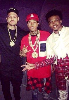 Chris Brown, Tyga and August Alsina