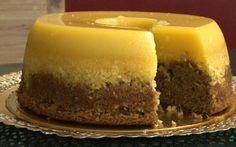 São 2 receitas em 1 - o tradicional doce de ovos, com bolo de chocolate
