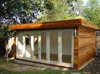 Incredible and cozy backyard studio shed design ideas Backyard Office, Outdoor Office, Cozy Backyard, Backyard Studio, Garden Office, Outdoor Rooms, Home Office, Modern Backyard, Backyard Storage Sheds