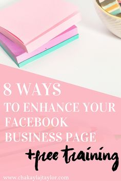 8 Tips to Improve Your Facebook Page — Does your Facebook Business Page need a design pick me up? Watch today's free tutorial video and learn how to create a beautiful and welcoming Facebook Business Page.