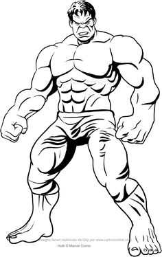 Hulk front drawing to print and color Hulk Coloring Pages, Avengers Coloring Pages, Superhero Coloring Pages, Spiderman Coloring, Marvel Coloring, Disney Coloring Pages, Coloring For Kids, Coloring Books, Free Coloring