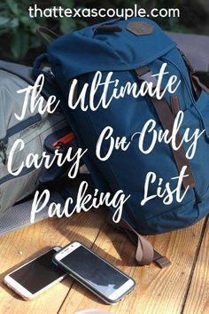 If you're considering traveling with only a backpack, then this ultimate carry on only packing list is just what you need! #carryononly #minimalisttravel #backpack #packinglist #backpackinglistpackingguide Carry On Bag Essentials, Travel Essentials, Travel Hacks, Travel Tips, Travel Ideas, Travel Photos, Bus Travel, Travel Backpack, Backpacking Checklist