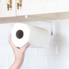 Fast Deliver Adhesive Paper Towel Wooden Holder Storage Rack Organizer Tissue Shelf Under Cabinet Cupboard For Kitchen Bathroom Home Superior Performance Bathroom Fixtures Home Improvement