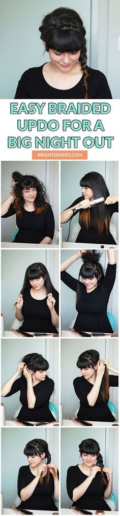 Easy braided hair tutorial for a big night out. Click through for step by step instructions!