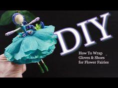 Fairy Crafts, Doll Crafts, Diy Doll, Knitting Loom Dolls, Doll Videos, Worry Dolls, Fairy Wands, Doll Tutorial, Flower Fairies
