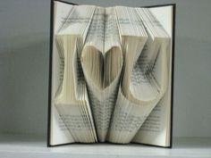 Folded book sculpture