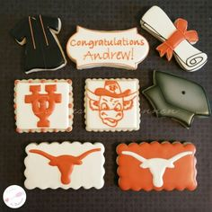 University of Texas at Austin cookies. UT Longhorn cookies Cookies by Shannon www.facebook.com/cookies.by.shannon