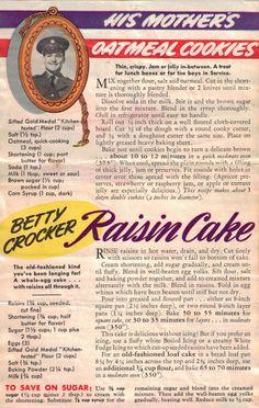 WW II war rations / recipes