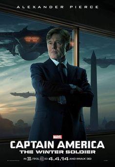 Robert Redford protagoniza el nuevo póster de 'Capitán América: el soldado del Invierno'.