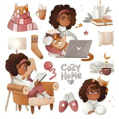 Study Planner, African American Art, Happy Planner, Fall Halloween, Cool Art, Art Pieces, Digital Art, Character Design, Doodles