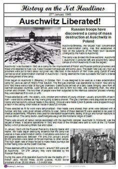 Auschwitz Newspaper Headlines
