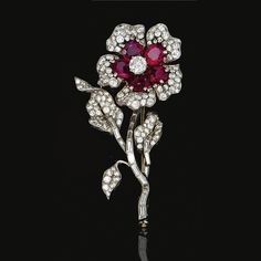 Ruby and diamond brooch, Van Cleef & Arpels, <P>1952</P> | lot | Sotheby's
