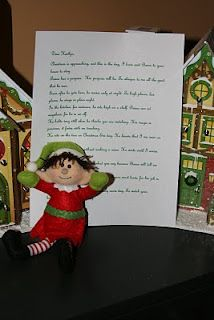 Elf on Shelf elf comes with a letter from Santa asking you to adopt Elf through Christmas. Elf fills the Advent House with candy each day that you're good. # Life on the Ridge Side: December 2010