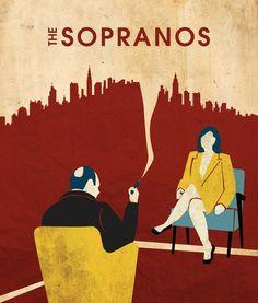 The Sopranos (1999–2007) ~ Minimal TV Series Poster by Jeffrey Liu #amusementphile