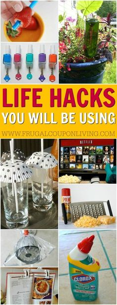 Life Hacks You Needed to Know Yesterday! Why didn't I think of that ideas you will be using over and over. Details on Frugal Coupon Living. Simple tips for the home, kitchen, cleaning, and even the yard.